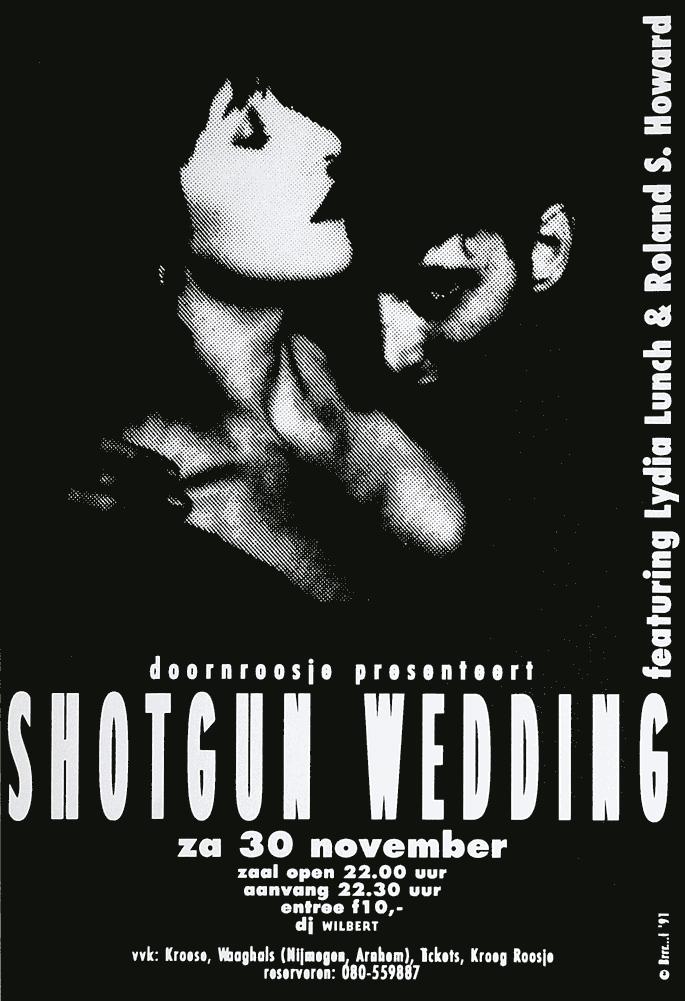 Doornroosje Nijmegen, affiche Shotgun Wedding 1991