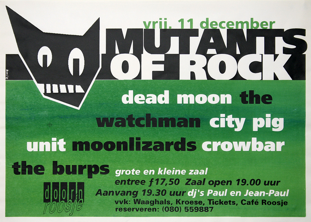 Doornroosje affiche Mutants of Rock 1992