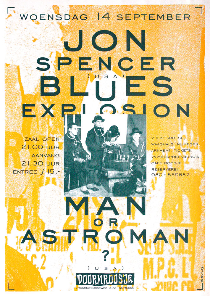 Doornroosje affiche Jon Spencer Blues Explosion 1994