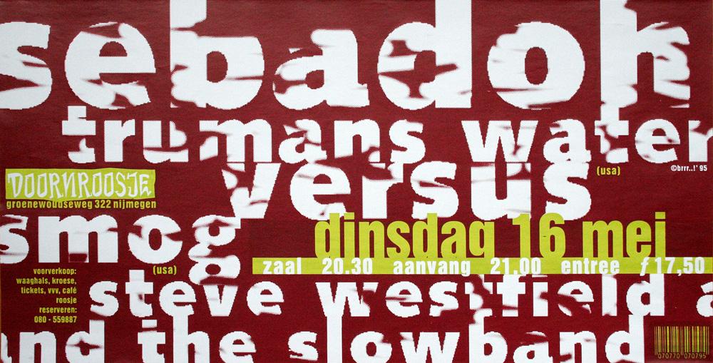 Doornroosje affiche Sebadoh 1995