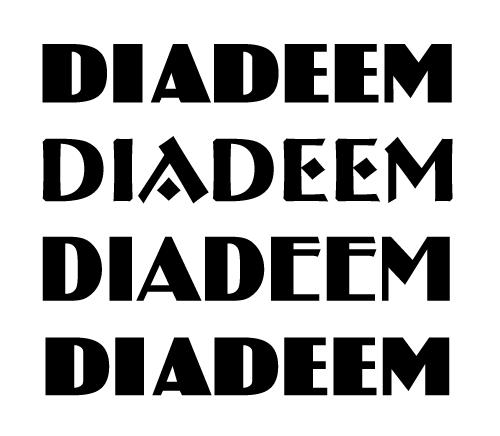 bartswerk diadeem lettertype